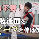 【ビデオ】力不要!痛みなしで下肢後面をぐ~っと伸ばせる手技