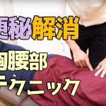 【ビデオ】ひどい便秘を解消!胸腰部リリーステクニック!