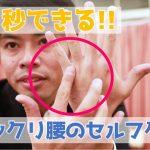 【ビデオ】手の甲からアプローチ!ギックリ腰の30秒セルフケア
